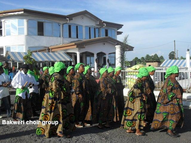 Bakweri%20choir%20group%20at%20the%20palace%20of%20chief%20molinge Bakweri People:  Ancient Fierce Fighters, Traditionally Spiritual, Custom-Abiding And Agrarian Bantu People Of Mount Cameroon