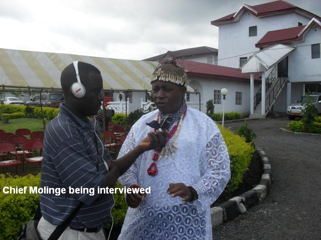 chief%20being%20being%20interviewed Bakweri People:  Ancient Fierce Fighters, Traditionally Spiritual, Custom-Abiding And Agrarian Bantu People Of Mount Cameroon